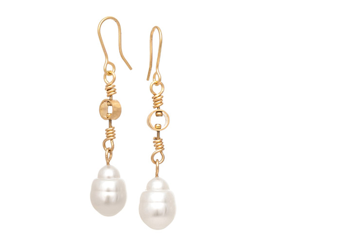 Laura Eyles - Pearl Earrings - Larger