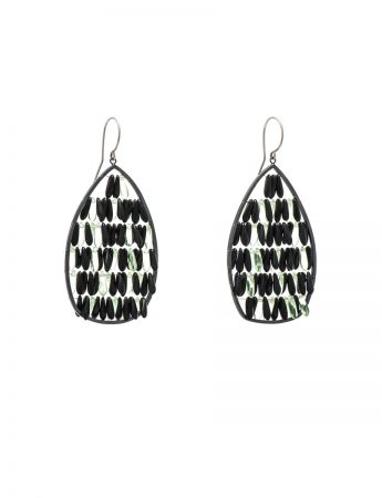 Reef Earrings - Silver & Glass