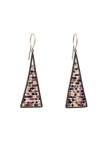 Reef Earrings - Contrasting Gemstones