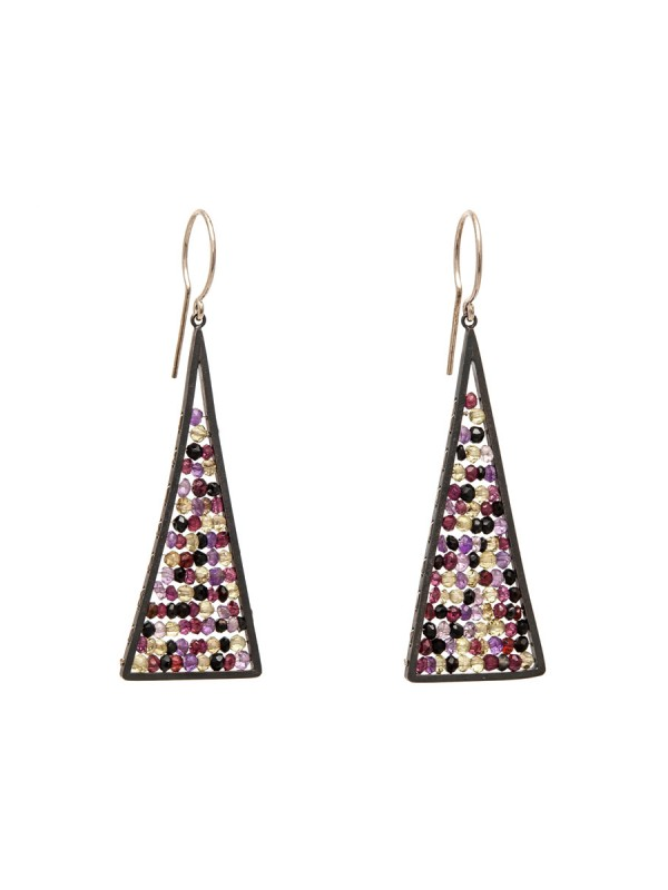 Reef Earrings – Contrasting Gemstones