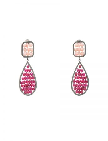 Reef Earrings – Opal & Ruby