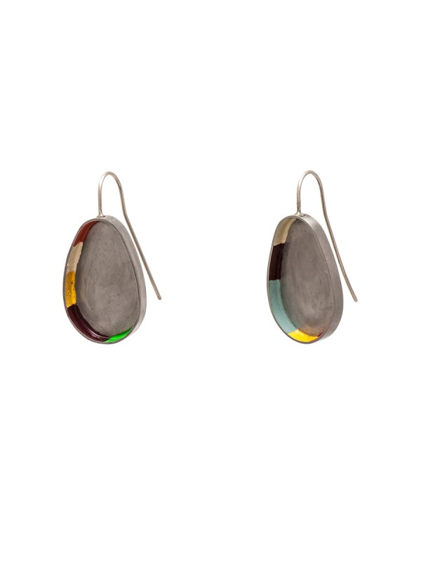 Colour Strip Earrings – Ovoid