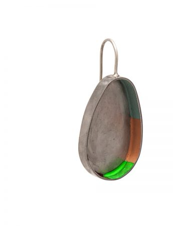 Colour Strip Earrings - Ovoid