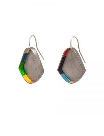 Colour Strip Earrings - Petal
