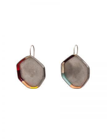 Colour Strip Earrings - Heptagonal