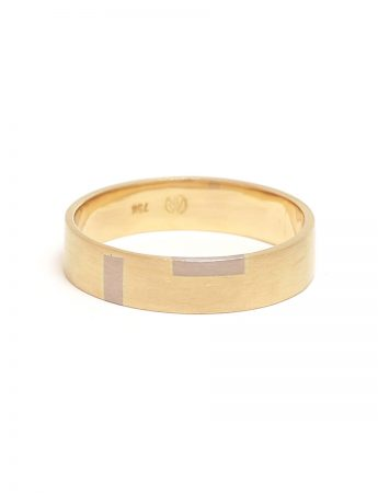 Two Check Inlay ring