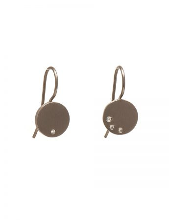 Speckled Earrings - White Gold & Diamonds