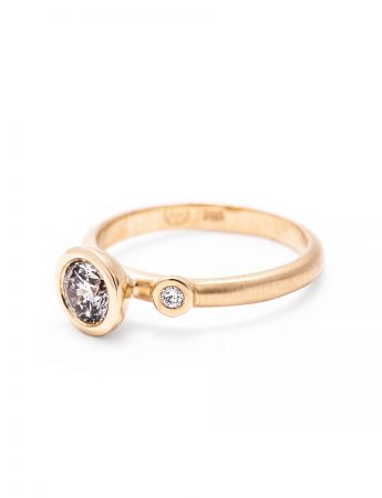 Confetti Ring - Champagne & White Diamonds