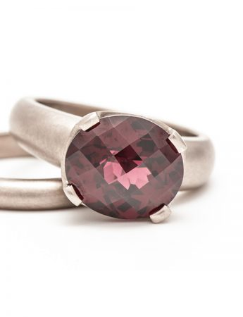 Rhodolite Garnet Ring - White Gold
