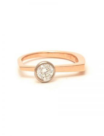 Autumn Engagement Ring - Rose Gold & Diamond