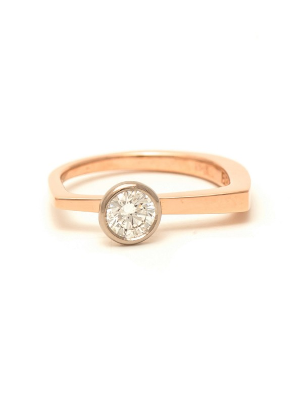 Autumn Engagement Ring – Rose Gold & Diamond