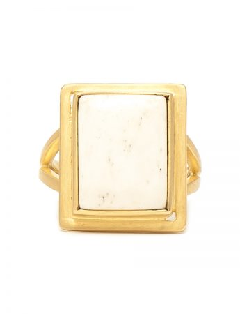 Bone & Gold Dress Ring