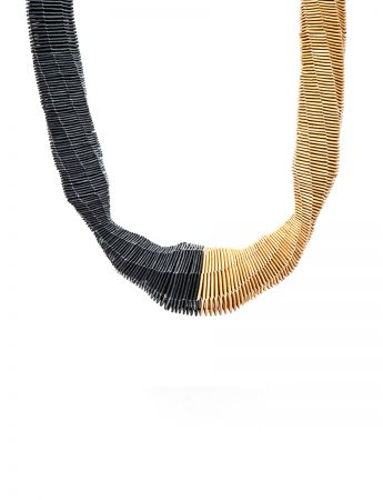 Gold and Black Ball neckpiece