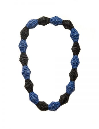 """""""Baubles"""" Blue and Black necklace"""