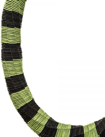 """Stripes"" Green and Black necklace"