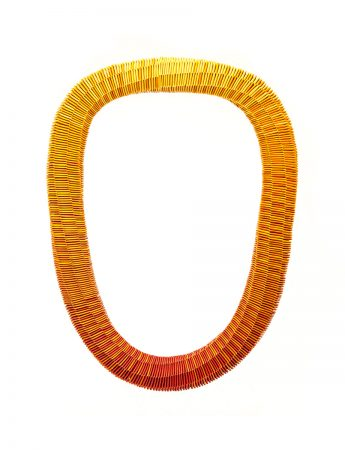 """""""Flame"""" Yellow to Red necklace"""