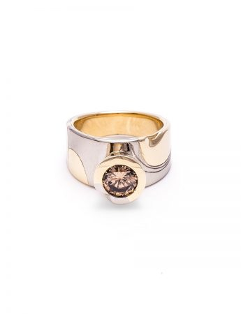 Sculptural Champagne ring
