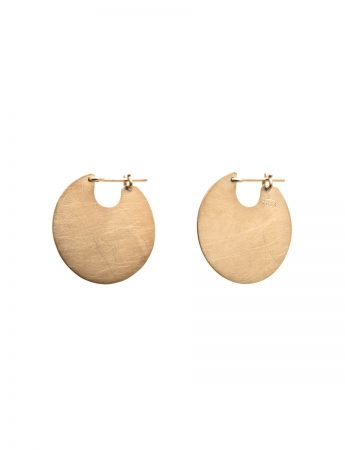 U Disc Earrings - Gold