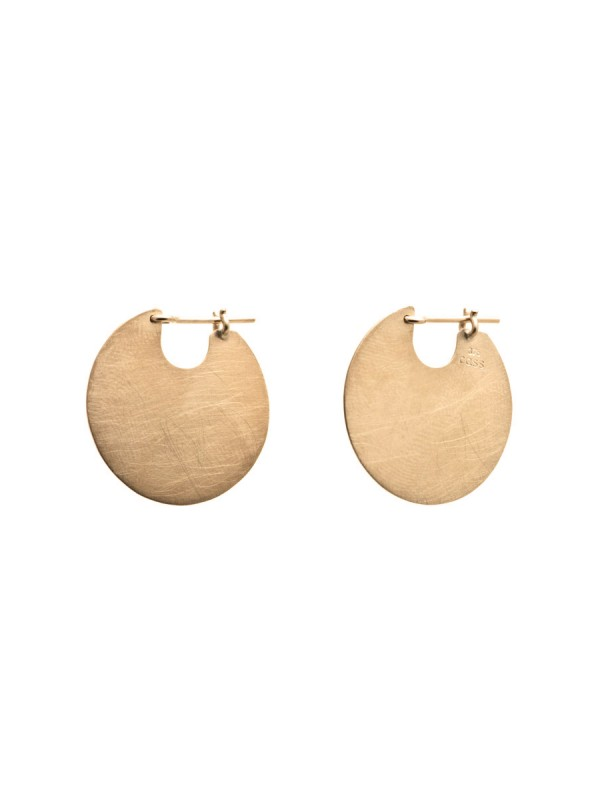 Small U Disc Earrings – Gold