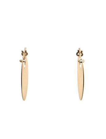 Small U Disc Earrings - Gold