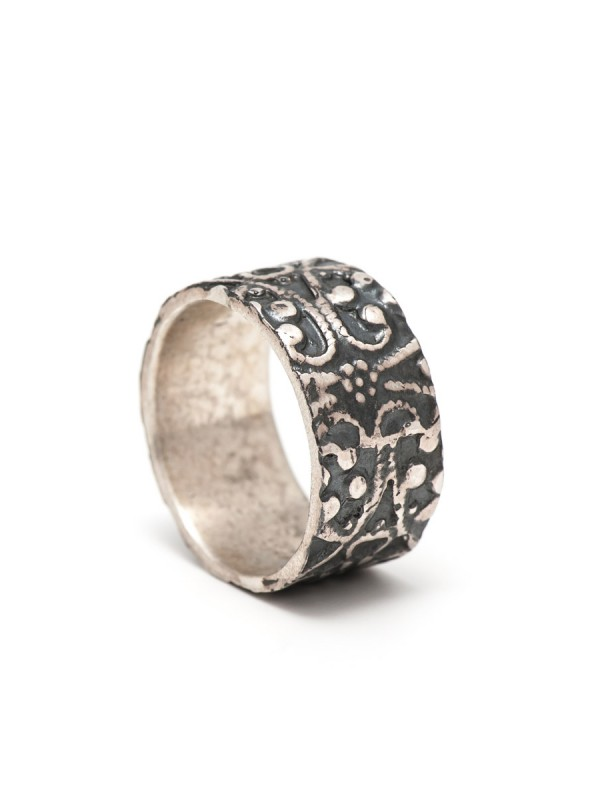Morocco Ring – Oxidised Silver