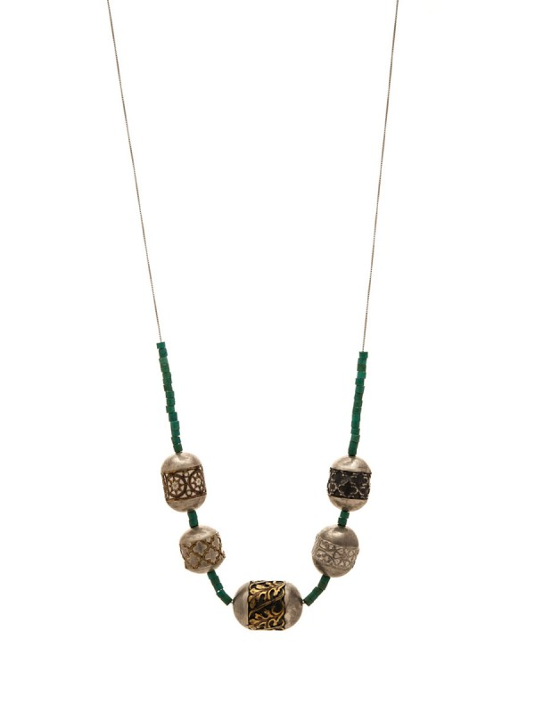 Italy Neckpiece – Silver & Turquoise