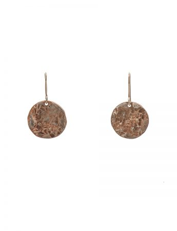 Japanese Flower Earrings - Rose Gold Plated