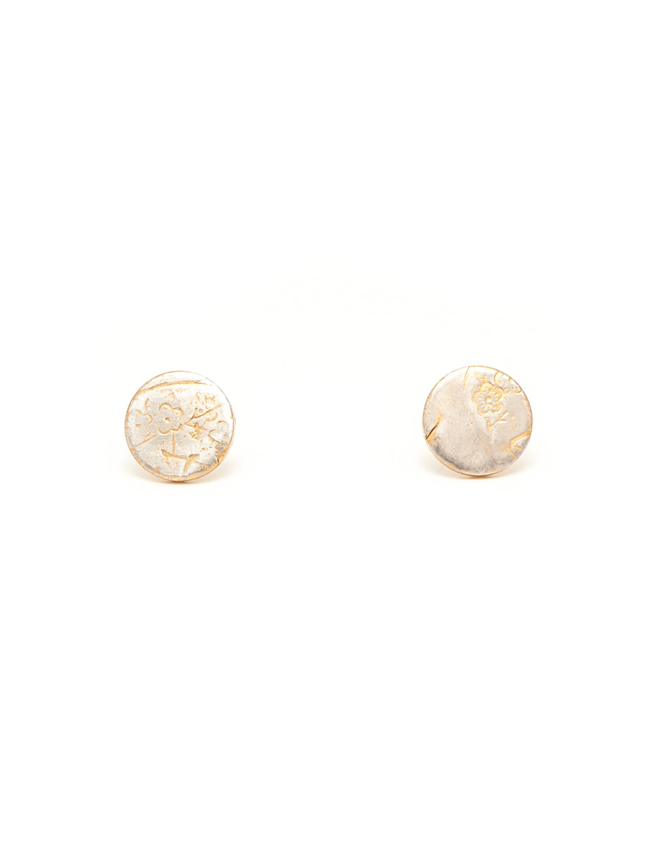 Cherry Blossom Stud Earrings – Gold Plated