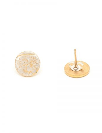 Cherry Blossom Stud Earrings - Gold Plate