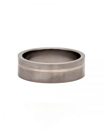 Stripe Ring - Titanium & Gold