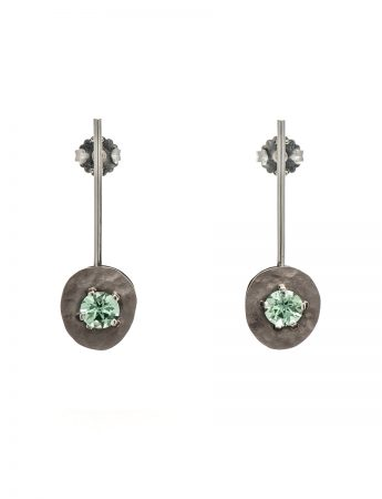 Drift Earrings - White Gold & Tourmaline