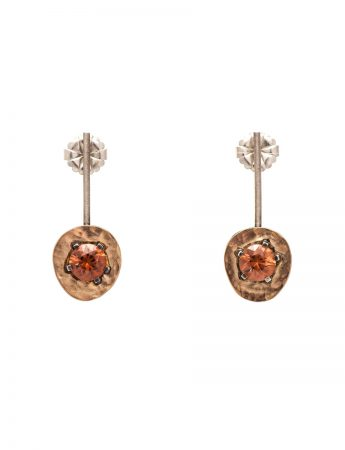Drift Earrings - Gold & Rust Zircons