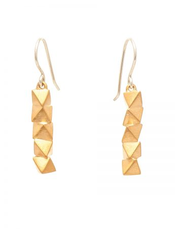 Cassiopeia octahedron cluster earrings