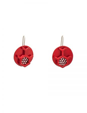 Circles with Honeycomb Earrings
