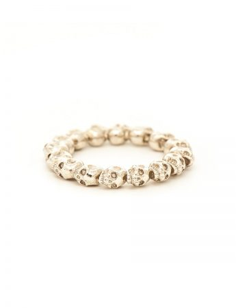 Skull Rosary Ring - White Gold