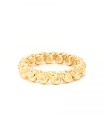 Skull Rosary Ring – Gold