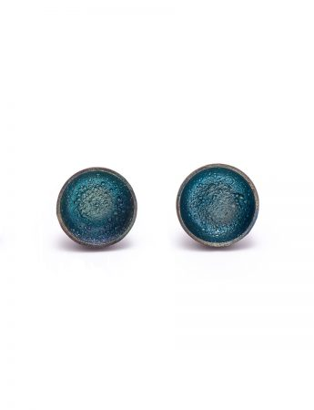 Dome Stud Earrings - Blue