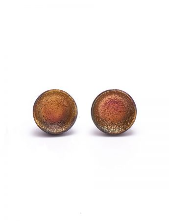 Dome Stud Earrings - Yellow & Orange