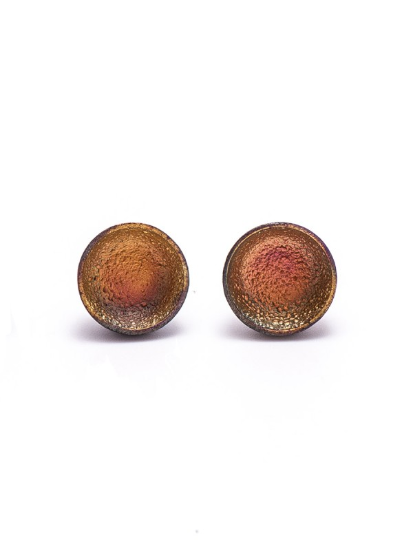 Dome Stud Earrings – Yellow & Orange