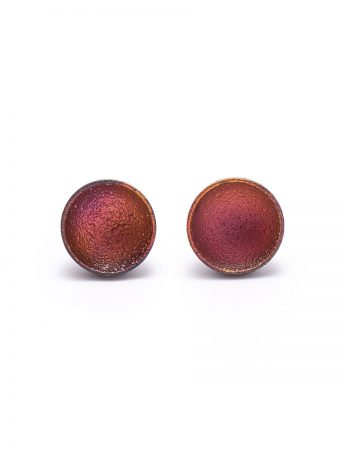 Dome Stud Earrings - Pink