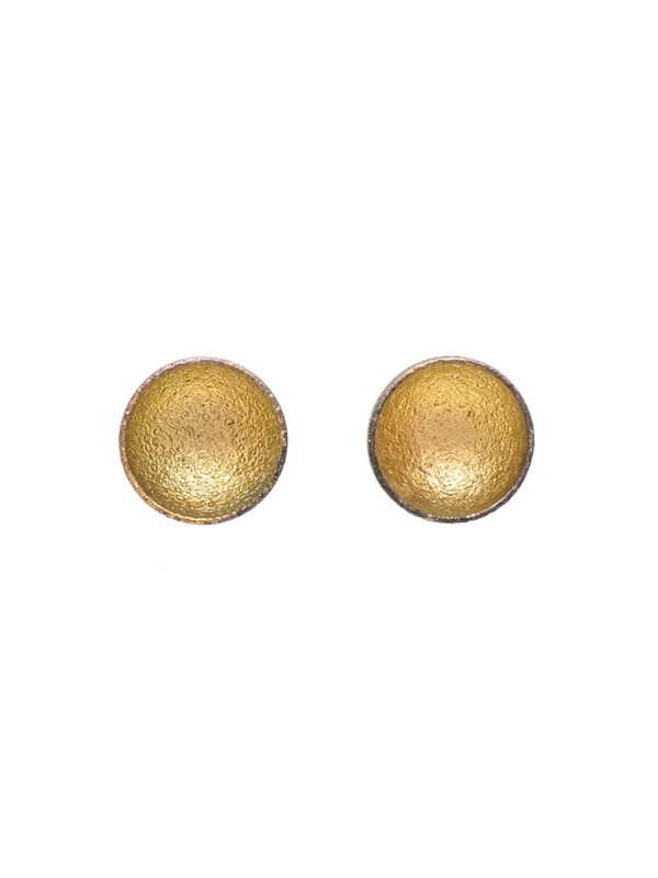 Dome Stud Earrings – Yellow