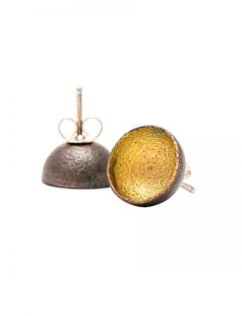 Dome Stud Earrings - Yellow