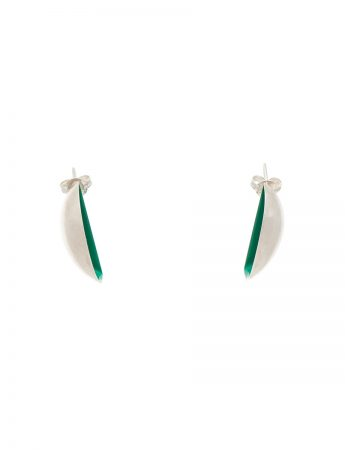 Half Shell Earrings - Green