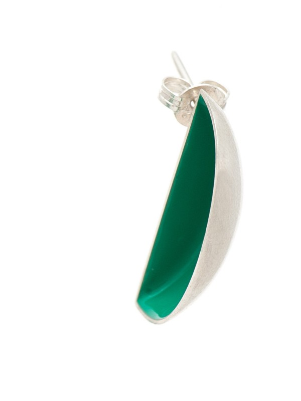 Half Shell Earrings – Green