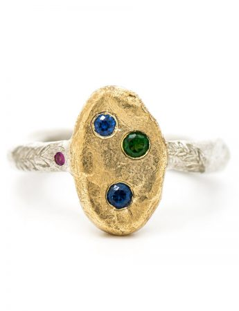 Journey Keepsake Ring - Tourmaline & Sapphire