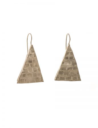 Triangle engraved earrings