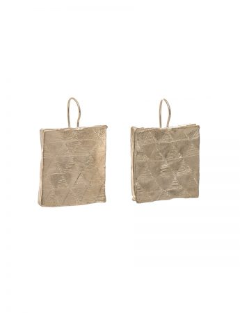 Square engraved earrings