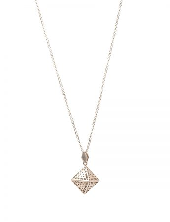 Amplify Octahedron Silver Necklace