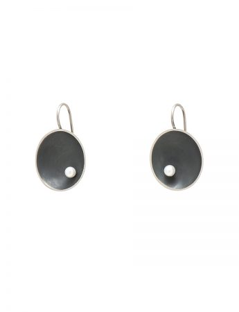 Small Sea Dish Earrings - Oxidised