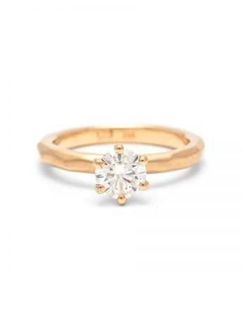 Faceted Ring - Solitaire Diamond
